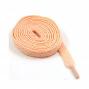 9mm FLAT WIDE SHOE LACES *8 LENGTHS & 31 COLOURS* SNEAKERS SKATE BOOTS TRAINERS (150cm, Peach