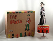 Wind-Up collectible white Tin toy Tap Dancer with Cane Vintage collectible box