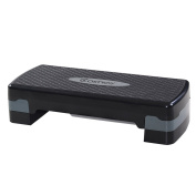Costway 70cm Fitness Platform Aerobic Stepper with Risers-Adjustable from 10cm - 15cm Exercise Stepper Home Gym