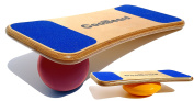 """CoolBoard Balance Board –The only true 3D / 360 balance & exercise training board – Medium with Easy Start Balance Disc & Quickness Speed 6"""" Pro Ball. Wobble Board, rocker board, balance trainer"""