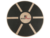 WODFitters Balance Board - Premium Wooden Wobble Board - 41cm Round Balance Trainer - Fit Board / Exercise Board For Core Training Fitness Workouts, Physical Therapy & Rehabilitation - w/ Carrying Bag