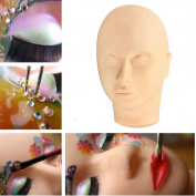 Stebcece Massage Training Mannequin Flat Head Practise Make Up Model Eyelash Extensions