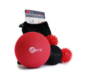 Massage Ball Set for Myofascial, Deep Tissue and Trigger Point/Muscle Knot Release. 4 Premium Massage Balls