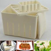 Konkopepe 2016 New Arrival 3 Pcs/Set DIY Tofu Pressing Mould Plastic Tofu Maker Press Mould Kit + Cheese Cloth Kitchen Tool