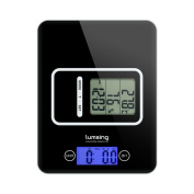 Lumsing Digital Kitchen Scale, Multifunction Food Scale with Removable Countdown Kitchen Timer & Thermometer, Backlight LCD Display, 5kg/11lb