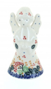 Polish Pottery Holly Angel Figurine