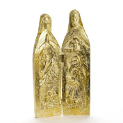 Holy Family Hinged Gold-coloured Resin Statue