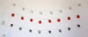 Halloween Garland Led String Lights, Ghost, Pumpkin & Skeleton