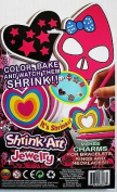 Arts And Crafts Fun Shrink Art - Jewellery Set Kit Includes Markers - Shrink Art Sheet and more