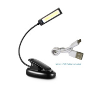 TOMOL LED COB Book Light Clip Light,music stand light lamp, Flexible, Daylight White, Travel Light, Clip Light with Stand, for Reading at Night and eye-friendly, Books, Kindle, Nook, Recipes, music score, Great for readers, Kids & Children & Adults,wit ..
