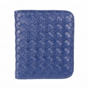 Outtop Faux-Leather Small Weave Wallet with Card Holder for Women Girls