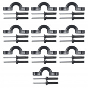 10 Pcs Kayak Nylon Bungee Deck Loops Tie Down Kayak Pad Eye with rivets for kayaks