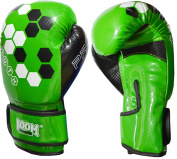 BOOM Prime Junior Leather Boxing Gloves Kids Martial Arts Sparring Punch Bag Training MMA