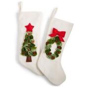 Holiday Lane Tufted Stocking