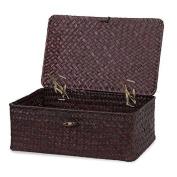 Medium Alexa Keepsake Storage Box with Lid Mahogany - 25cm