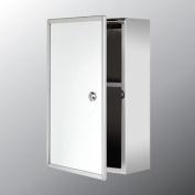 25cm x 40cm Surface Mount Bathroom Medicine Cabinet-Silver