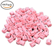 Vivian Garment Clothing Hanger Size Markers Plastic Snap On Size Tags Pack Of 100PCS
