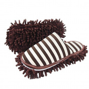 Kangkang@ Coffee Stripes Microfiber Magic Cleaning Slippers For Men