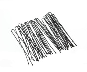 Black Waved Hair Pins Bun Pins Hair Slides Grips Longer Length 7cm Classic Hair Accessory Perfect for Buns Up-Dos and More