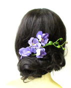 Lilac Light Purple Long Orchid Flower Branch Hair Comb Fascinator Headpiece 1279 *EXCLUSIVELY SOLD BY STARCROSSED BEAUTY*
