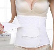 & ZHOU Postpartum corset gauze cotton breathable belly pregnant women with birth caesarean belt tie belt , m