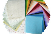 45 Sheets 30cm x 30cm Mulberry Paper Sheet Design Craft Hand Made Art Tissue Japan Origami Washi Wholesale Bulk Sale Unryu Suppliers Thailand Products Card Making