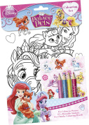 Disney Palace Pets Colouring Set Childrens Activity Stickers Stocking Filler Gift