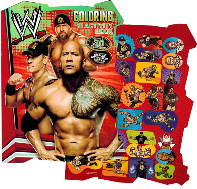 WWE World Wrestling Shaped Colouring Book with Stickers