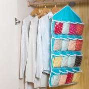 Fangfang 16 Pockets Waterproof Clear Over Door Hanging Bag Shoe Rack Hanger Storage Organiser Wall Closet Hanger