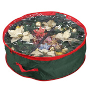 Supreme polyester Holiday Wreath Storage Bag With Clear Window For 90cm Wreaths