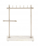 GwG Outlet Metal Marble Jewellery Stand 30cm W, 33cm H 54281