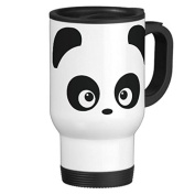 Travel Mug with Handle Unique Love Panda Travel Mugs for Men Coffee Cup for Mom Dad Friends Christmas Presents