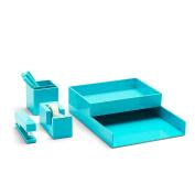 Poppin All Set, Desk Collection Set, Aqua