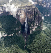 Angel Falls From The Bird Eye Venezuela America Art Poster 41cm X 41cm