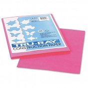 Pacon 103013 Tru-Ray Construction Paper, 34kg., 9 x 12, Shocking Pink, 50 Sheets/Pack