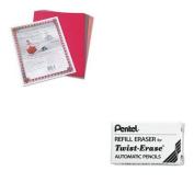 KITPAC103637PENE10 - Value Kit - Pentel Eraser Refills (PENE10) and Pacon Riverside Construction Paper