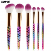 MAANGE 6pcs Beauty Eyeliner Eyeshadow Eyebrow Brush Make Up Makeup Brushes Tools Set