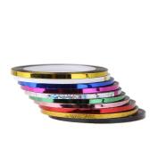 Demiawaking 10Pcs Women Rolls Striping Tape Line Nail Decorations Nail Art Stickers Manicure Nail Art Decals