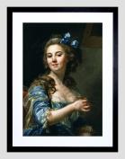 PAINTING SELF PORTRAIT ARTIST MARIE-GABRIELLE CAPET FRAMED ART PRINT F12X11550