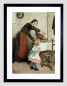PAINTING REGGIANINI THE UNWELCOME GUEST SMALL FRAMED ART PRINT F97X13392