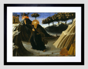 PAINTING FRA ANGELICO SAINT ANTHONY SHUNS MASS GOLD 9x7 FRAMED PRINT F97X12706
