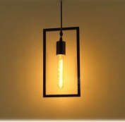 Loft Rectangle Retro Industrial Geometric Cage Pendant lamp Ceiling light Simple