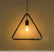 Loft Triangle Retro Industrial Geometric Cage Pendant lamp Ceiling light Simple