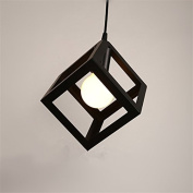 Black Cube Metal Cage Pendant Lights Lamps Kitchen Bar Ceiling Fixtures Lighting