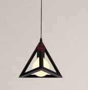 Black Vintage Triangle Light Chandelier Pendant Lamp Ceiling Light Bulb Suspension