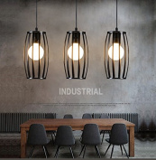 Black Vintage Industrial Antique Restaurant Pendant Ceiling Lighting Geometric Edison