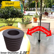 """MYARD Umbrella Cone Wedge fits Patio Table Hole Opening 2 to 2.5 Inch, & Pole Diameter 1 3/8"""""""
