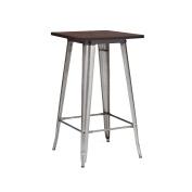 Design Lab MN Dreux Elm Wood and Steel Bar Table, Gunmetal Wood