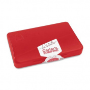 Avery Reinkable Foam Rubber Stamp Pad - 7cm x 11cm - Foam Pad - Red Ink