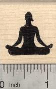 Accomplished Pose Rubber Stamp, Yoga Asana, Siddhasana